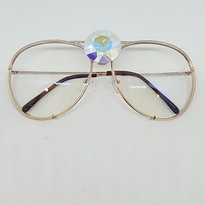Westray opal Swarovski clear AVIATORS new